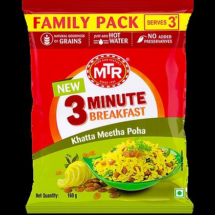 MTR 3 Minute Khatta Meetha Poha Pouch 160 g Pack