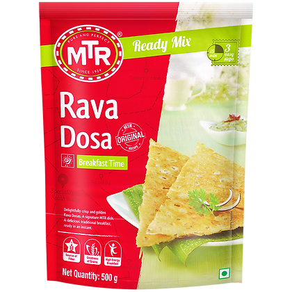 MTR Rava Dosa Mix 500g Pack