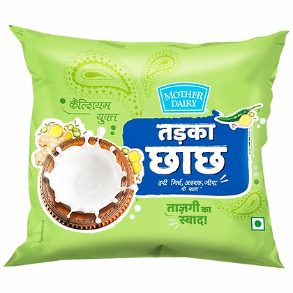Mother Dairy Tadka Chach, 350 ML, Pouch