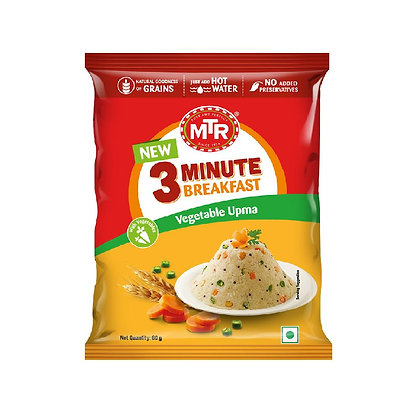 MTR 3 Minute Vegetable Upma Pouch 6O g Pack
