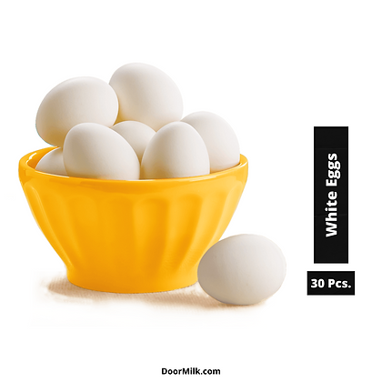 Buy Farm Fresh White Eggs, Sources of High Protein- 30 Pcs