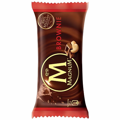 kwality walls Magnum Brownie Ice Cream, 80 ml Pack