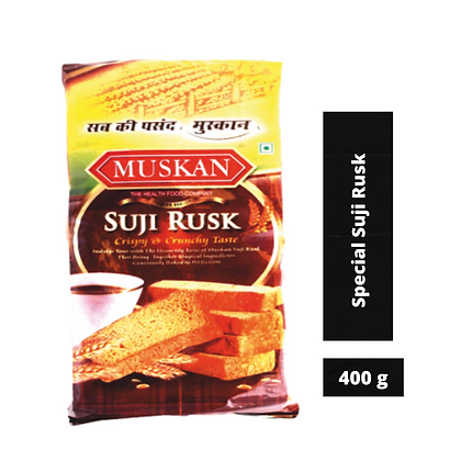Muskan Special Suji Rusk, 400g Pack