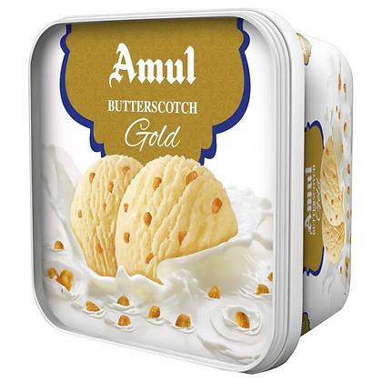 Amul Real Milk Ice Cream - Butterscotch Gold 1L Tub