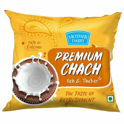 Mother Dairy Chach - Plain, 450 ML Pouch