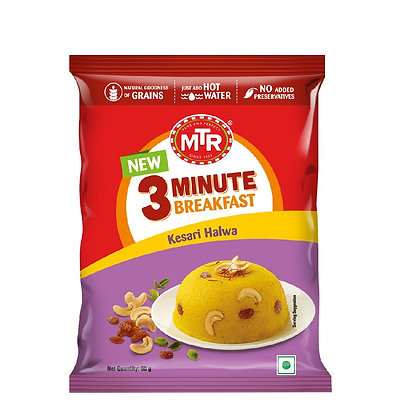 MTR 3 Minute Kesari Halwa Pouch 60 g pack