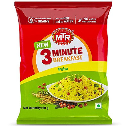 MTR 3 Minutes Breakfast Instant Poha Mix 60 g Pouch