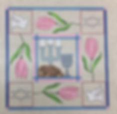 Square Tulip-Challah Cover