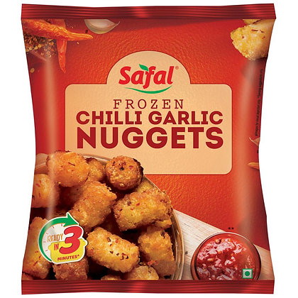 Safal Frozen Chilli Garlic Nuggets, 400 g