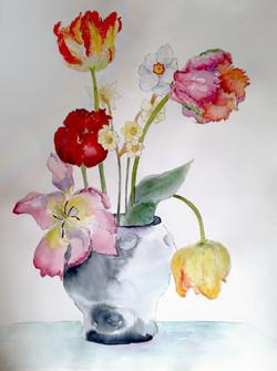 Raku Tulips