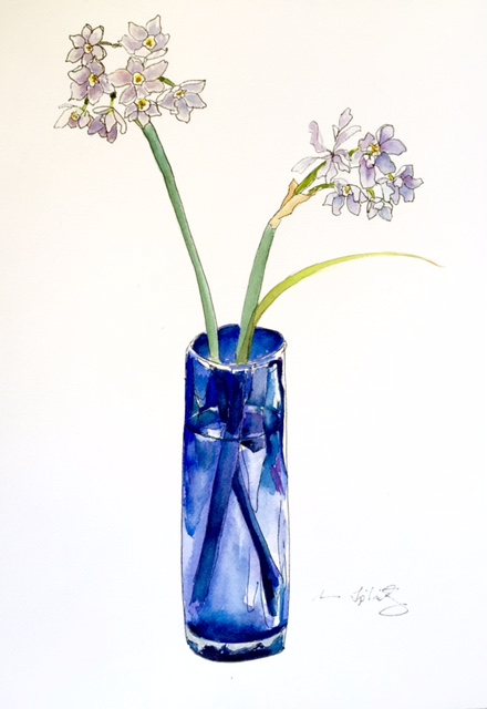Blue Glass Vase
