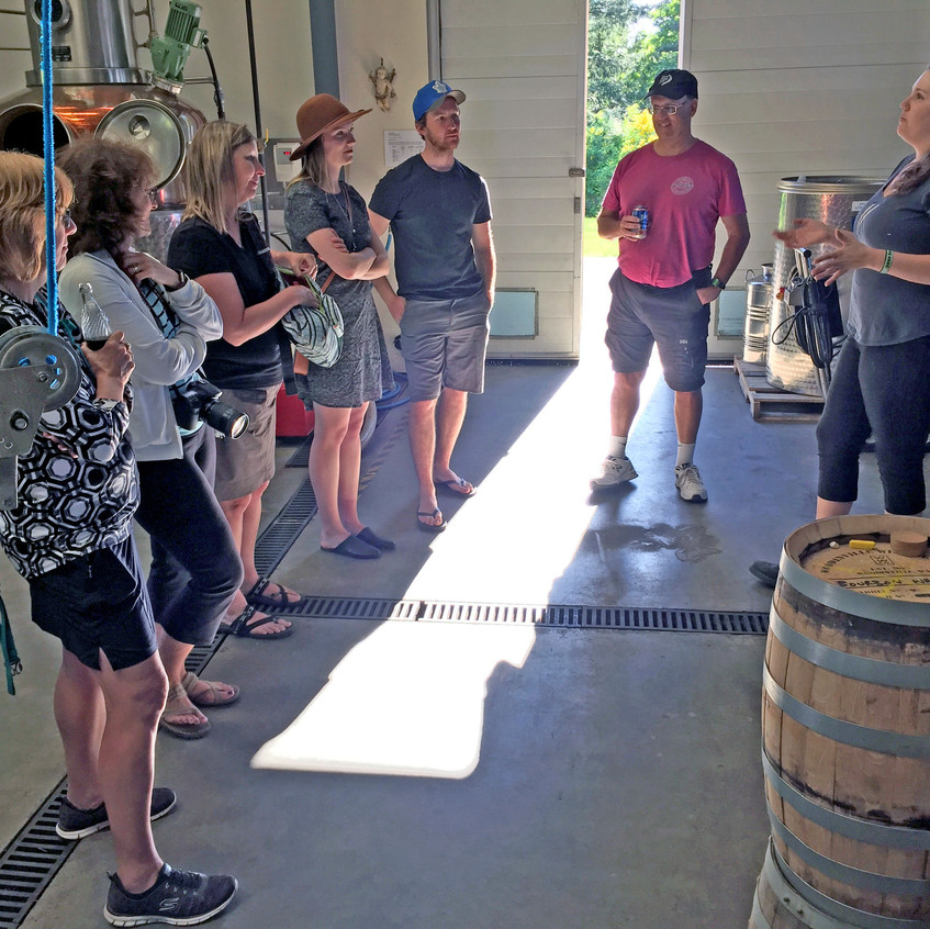 Get a guided tour of Genever Gin and Glen Saanich whiskey with the gracious team of De Vine hosts.