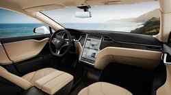 Tesla Model S interior sea scape