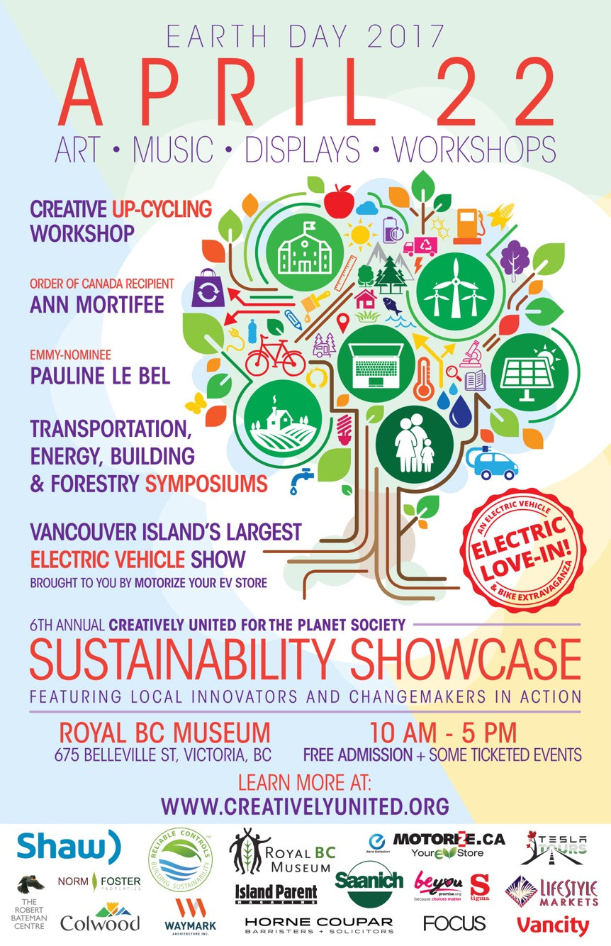 Creatively United Sustainability Showcase Earth Day 2017 @ the Royal BC Museum