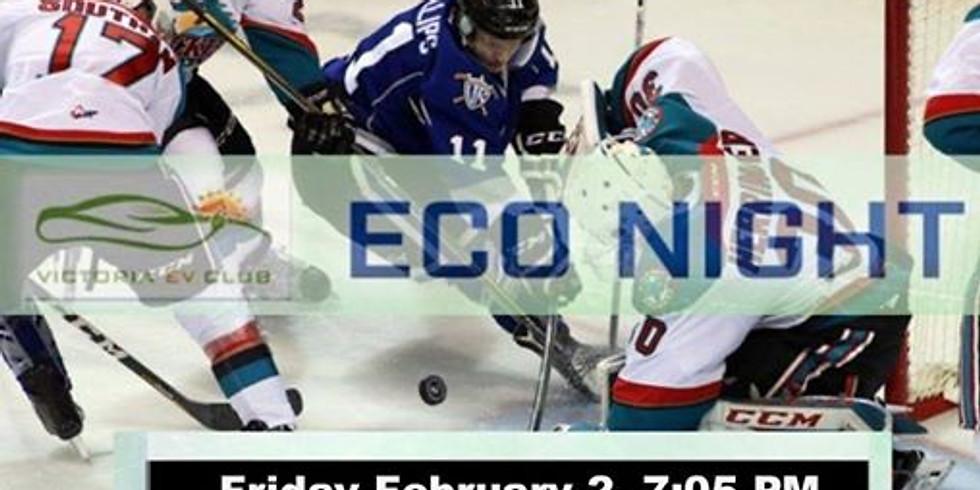 Victoria eV Club's ECO Night with the Victoria Royals Hockey Club
