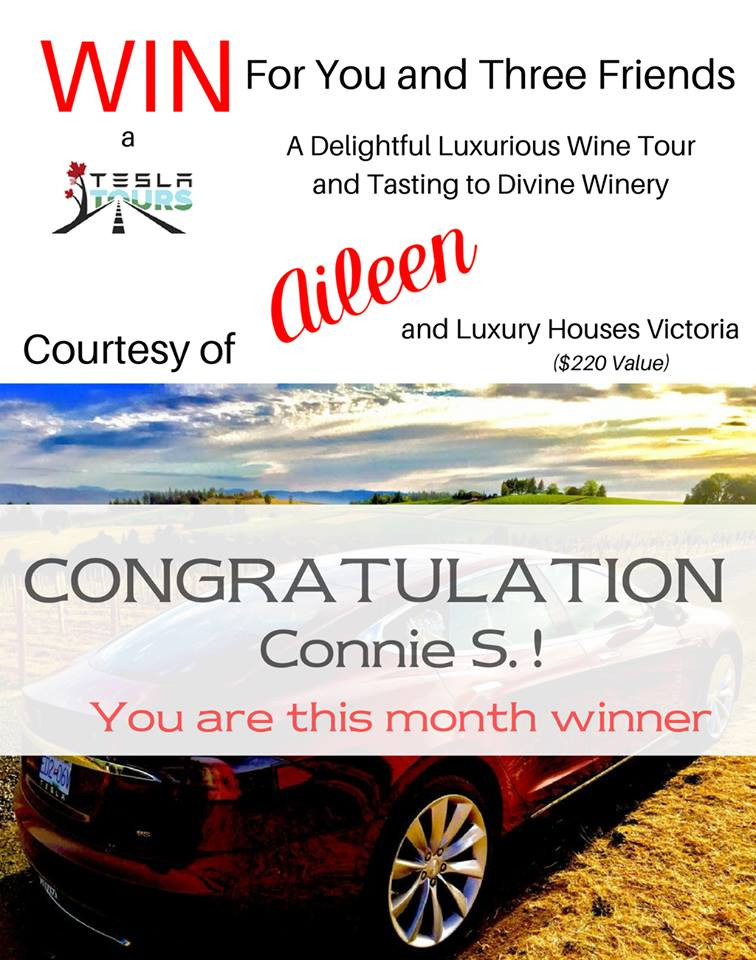 Congratulations to the lucky winner of Luxury Houses Victoria's contest!
