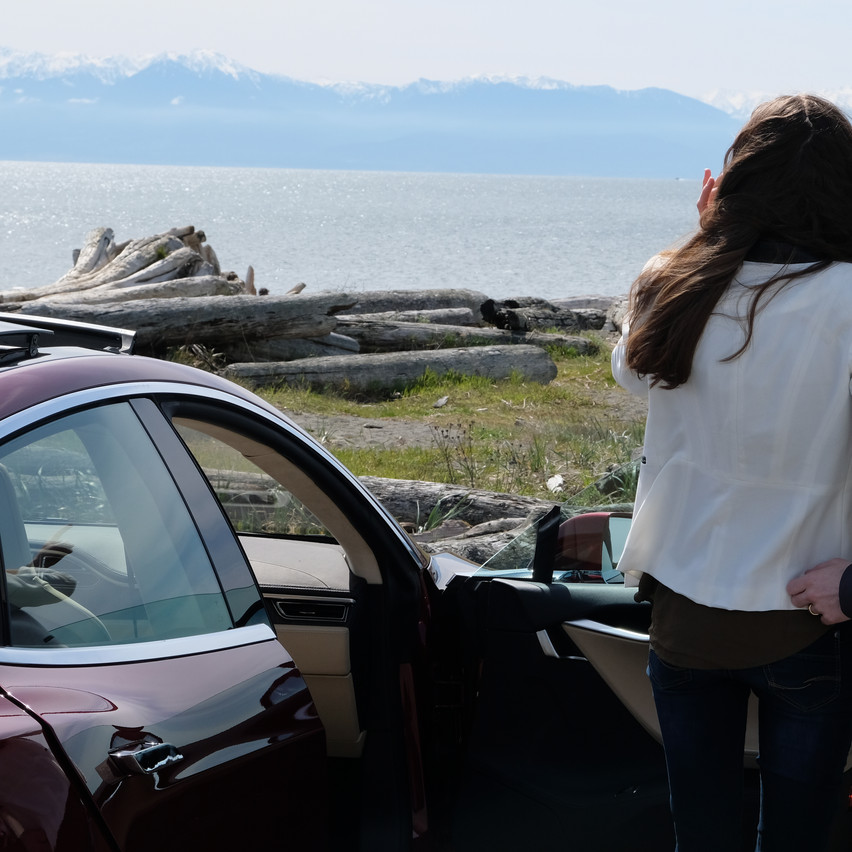 Spectacular views of the Olympic Mountains from the Coburg Peninsula.