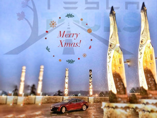 Merry Christmas & Happy New Year 2018 from Tesla Tours!
