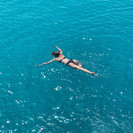 Snorkling in the sea, Cyprus