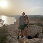 Climbing hills in Cyprus