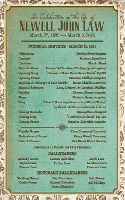 Newell Funeral Program_1