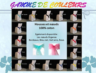 location textile housses de chaises nappes