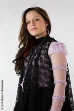 Emi Sunshine nit vest with makeup great