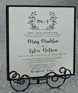Wedding invitation on a Mirror