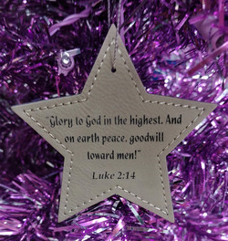 Leatherette Star Ornament