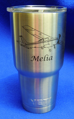 Yeti personalized with plane