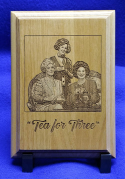 Tea for Three wood plaque