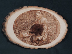 Turkey photo on a Wood slice