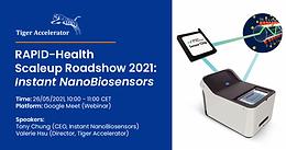 RAPID-Health Scaleup Roadshow 2021: Instant NanoBiosensors (2021-05-26)