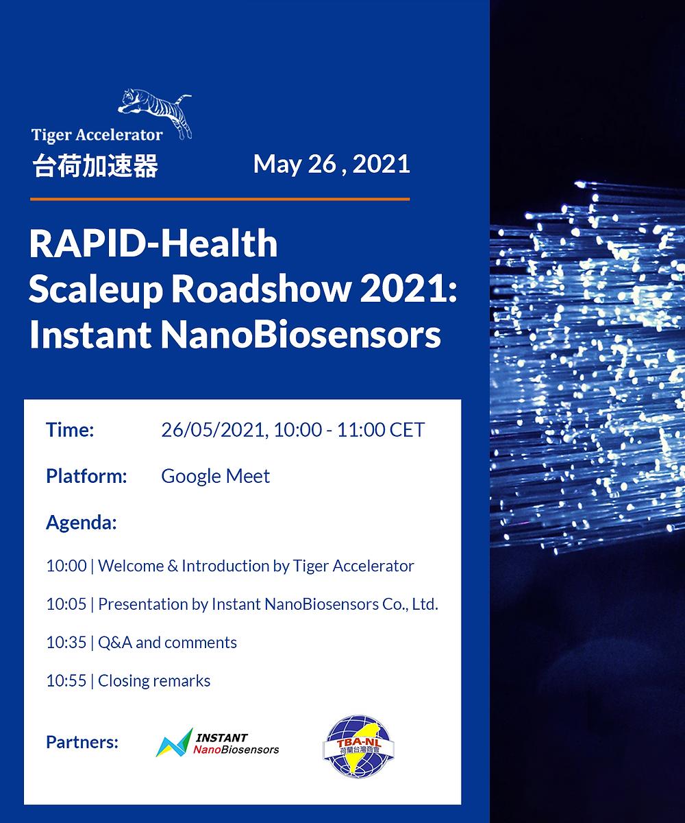RAPID-Health Scaleup Roadshow 2021 Instant NanoBiosensors