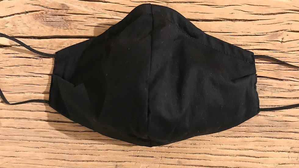 Mundschutz Maske handgemacht Schwarz