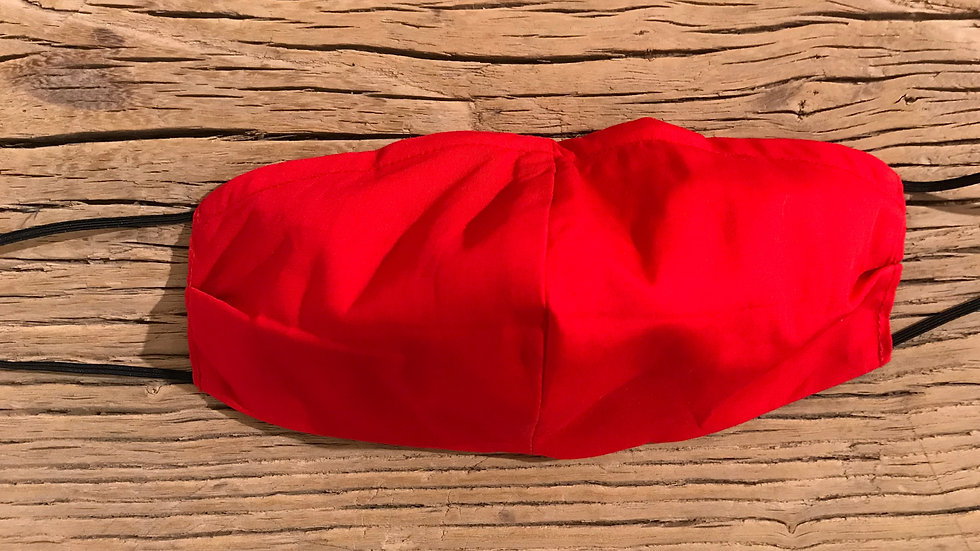 Mundschutz Maske handgemacht Rot