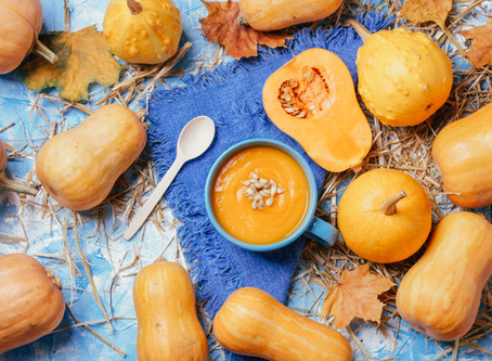 Pumpkin Soup with Oyster Mushrooms