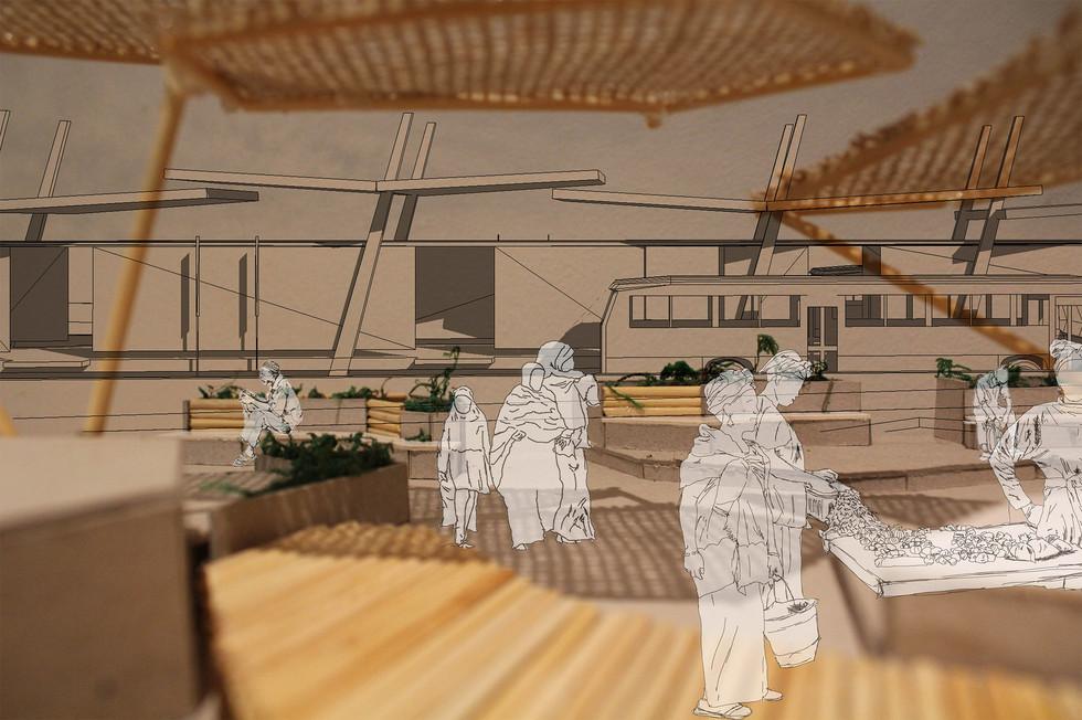 BRT public space. Moumakoe, BMK. Unit 15X. 2020.