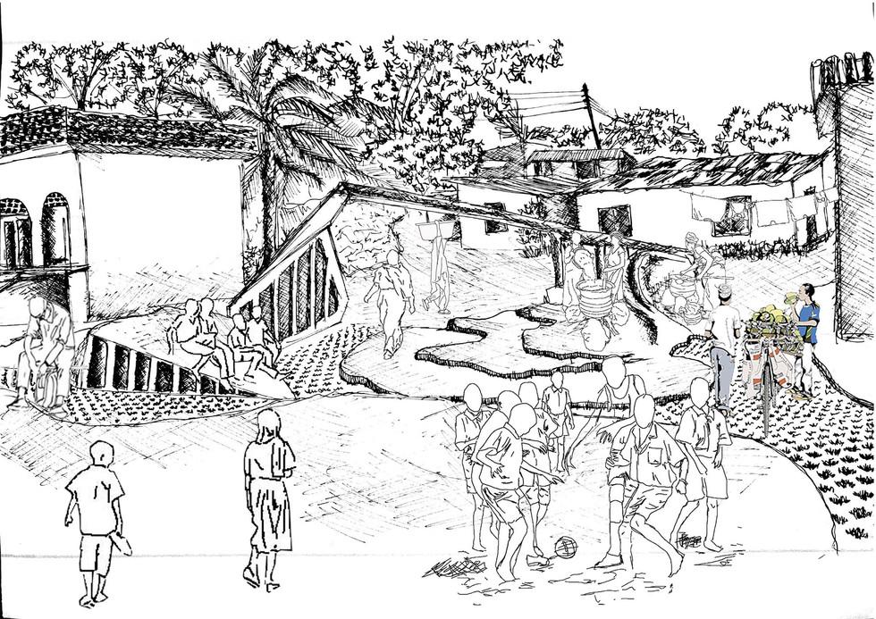 Internal public space. Moumakoe, BMK. Unit 15X. 2020.