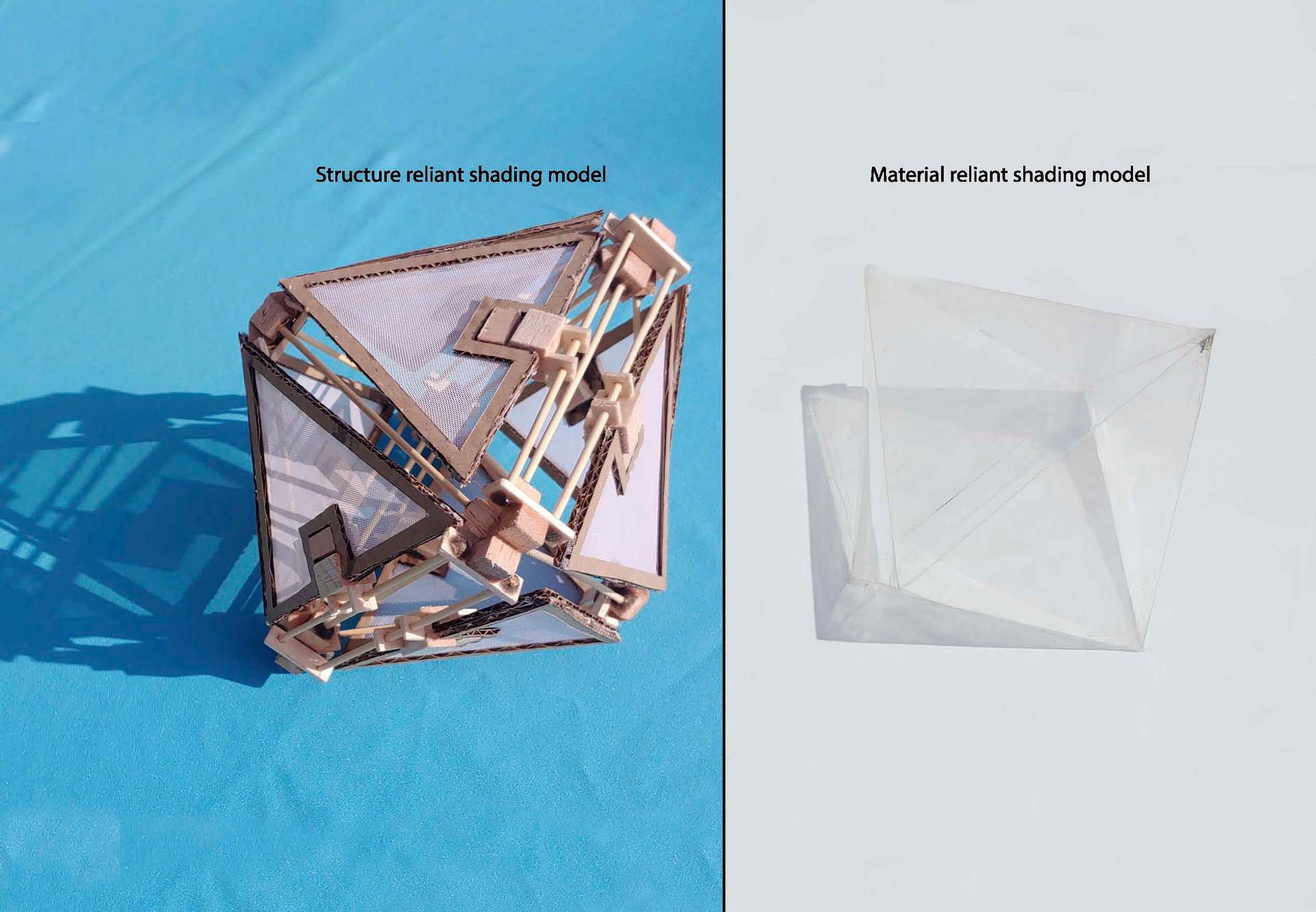 Comparative shading units: fabric vs translucent material. Potgieter, R. Unit 17. 2020.