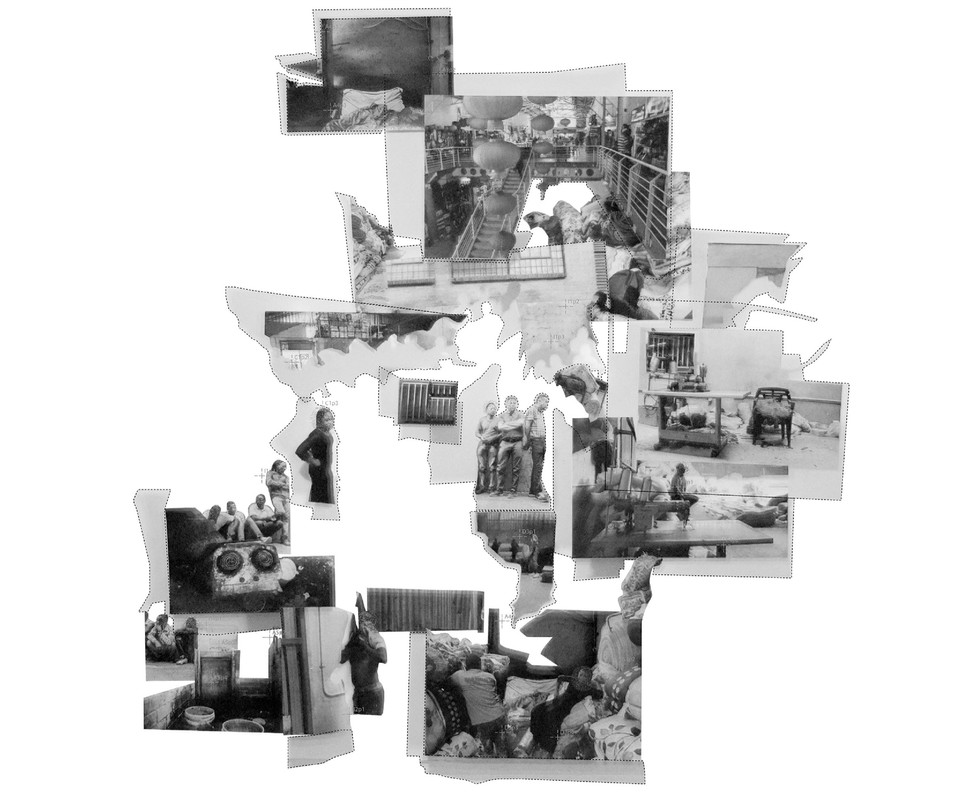 The Shadow Factory: Shadows and hierarchies of power This hierarchical collage draws out the power and operational shadows within the Blanket power. Chanje, J. Unit 14. 2020.