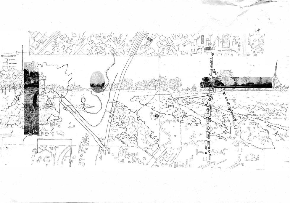 Spatial Narrative Cartography of Innesfree Park. Servant, AT. Unit 13. 2020.