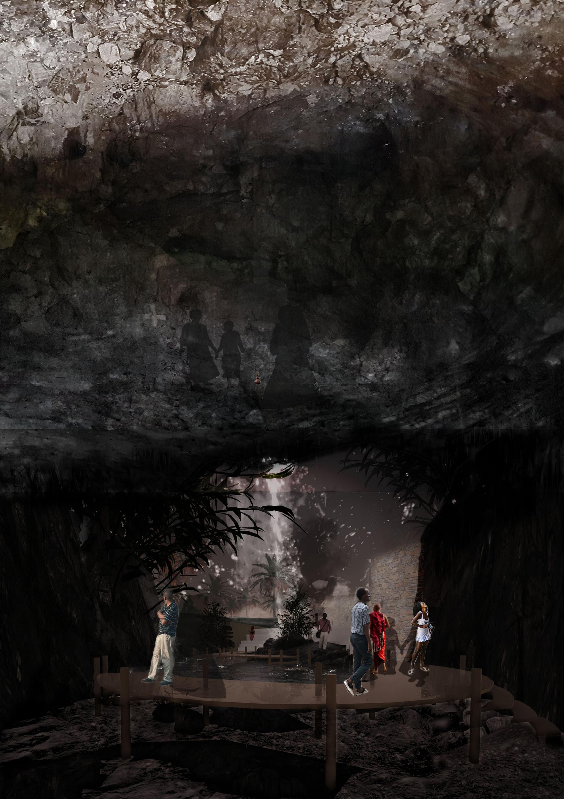 Cave – Tourist experience. Gomba, ZA. Unit 15X. 2020.