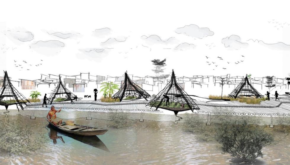 50 year flood line scenario, Ncube, T. Unit 15X. 2020.