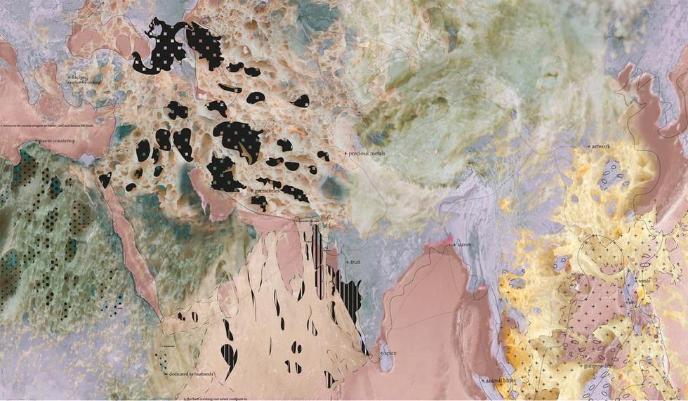 Aish Baladi – Countertop Map. Essa, Z. Unit 18. 2020.