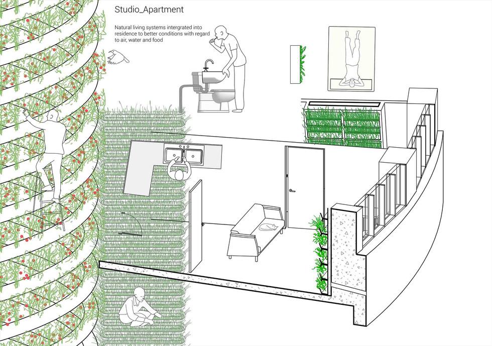 Apartment composite. Pottie, A. Unit 13. 2020..