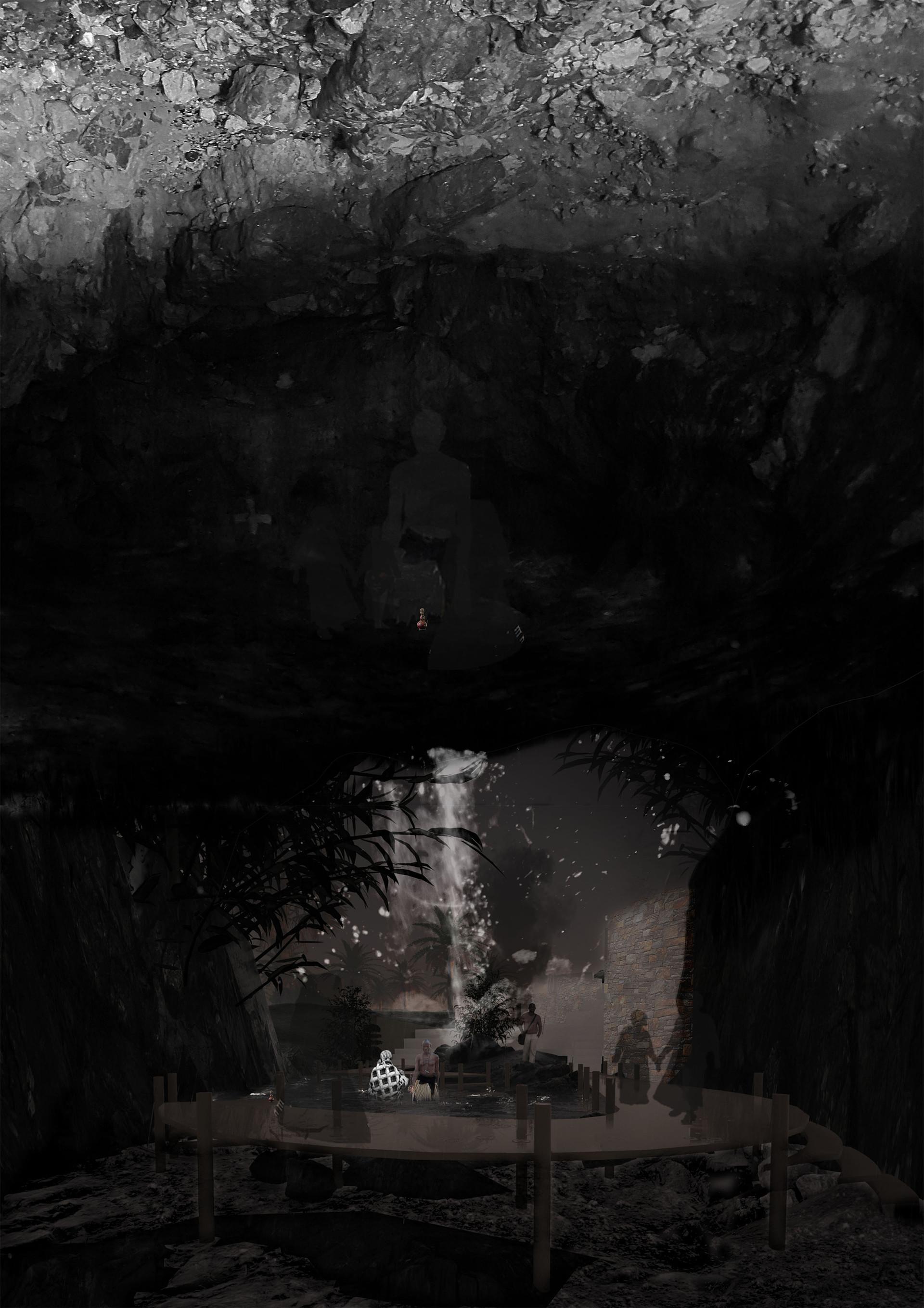 Cave – Zaramo Cleansing ritual experience. Gomba, ZA. Unit 15X. 2020.