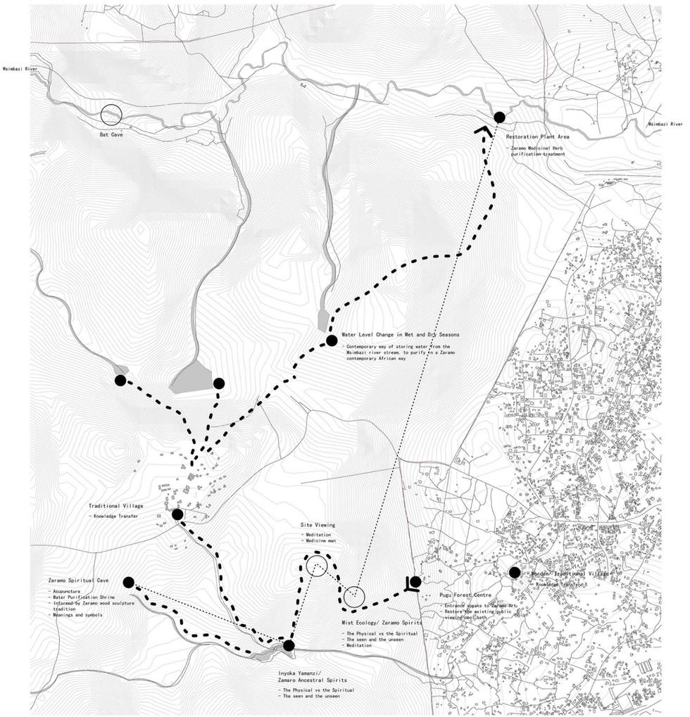 Trail and Sites. Gomba, ZA. Unit 15X. 2020.