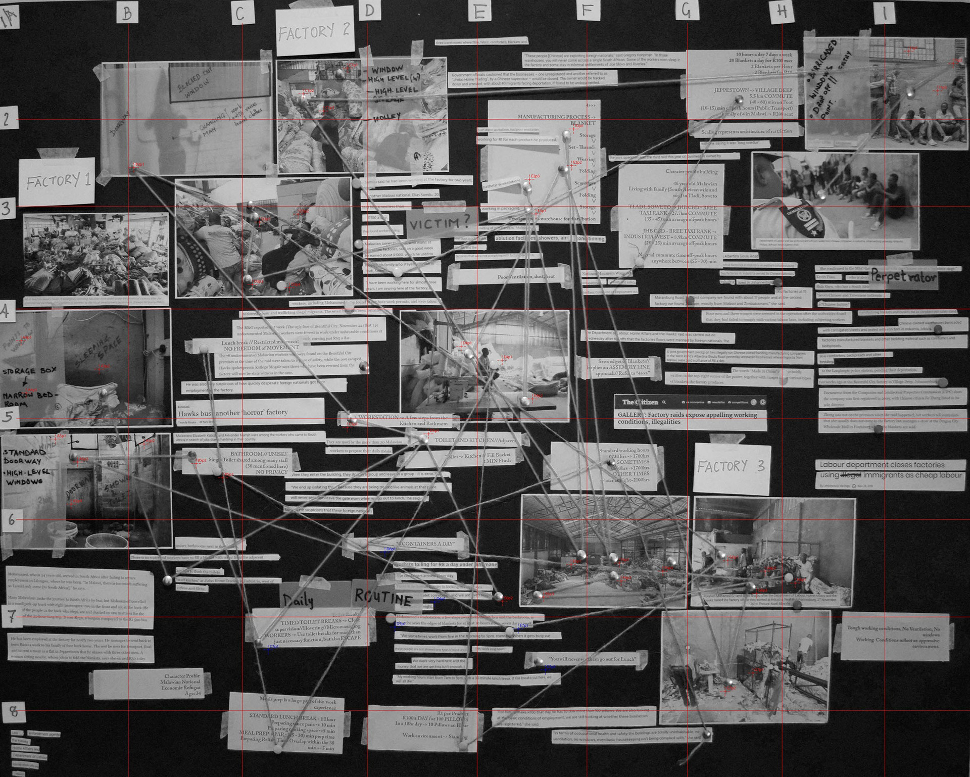 The Shadow Factory: Mapping the Shadows This forensic artefact draws out the relationships explored through media articles in an attempt to map out the shadow factory. Chanje, J. Unit 14. 2020.