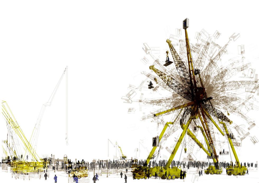Demolition Sequence 06-1, Ferris Wheel. Waskow S. Unit 11. 2017